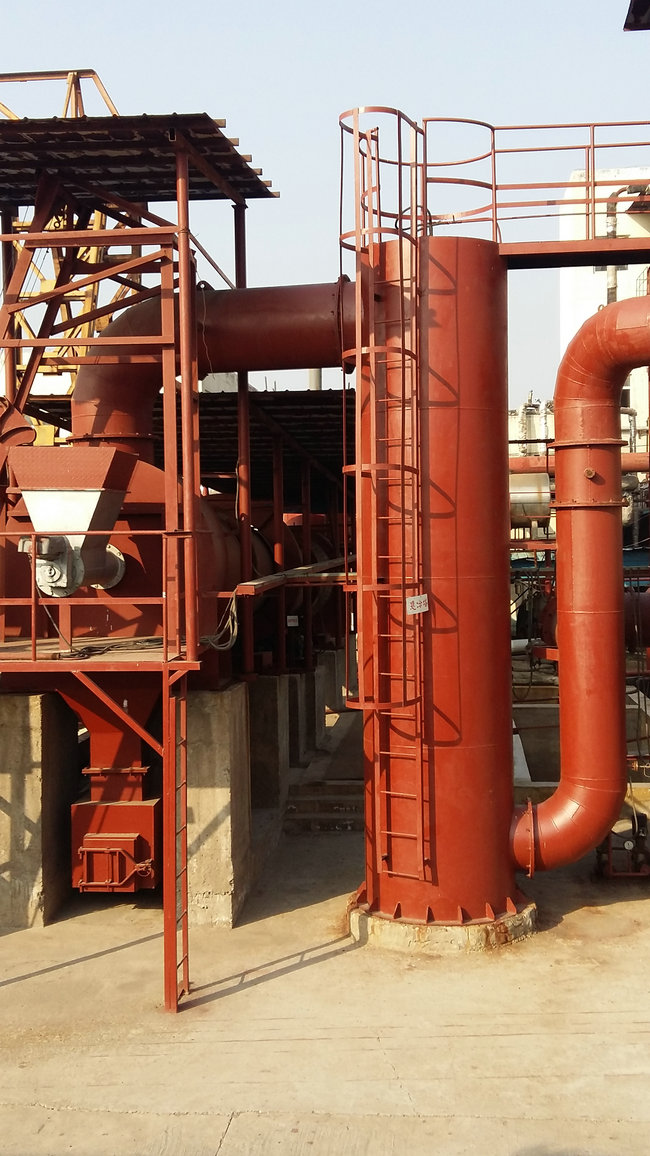 Solid waste thermal efficiency using rotary incinerator