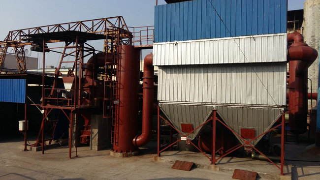 Environmentally friendly incinerator bag type dust removal supporting facilities