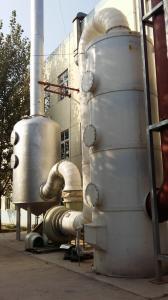 Fermentation plant tail gas lye spray tower