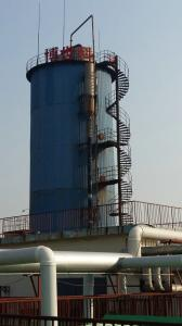 Sewage treatment aerobic reaction tower